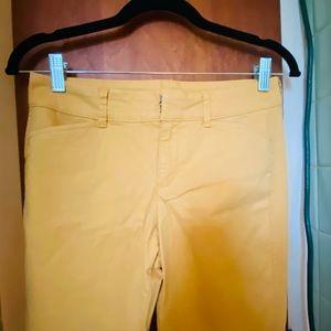 NWOT Cute yellow pixie pants